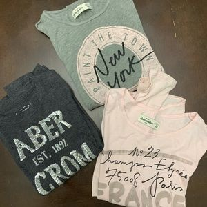 3 Girls Long Sleeve Abercrombie Shirts Size XXS 7
